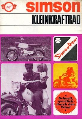 Simson Kleinkraftrad SR 4/3 Sperber Prospekt 1968