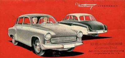 Wartburg 311 Programm ca. 1961