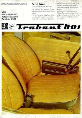 Trabant 601 S de Luxe Prospekt 1986