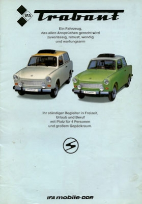 Trabant 601 Prospekt 1986