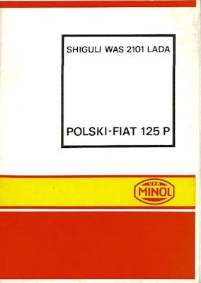 Polski Fiat 125 P Minol Wagenpflegeplan 1972