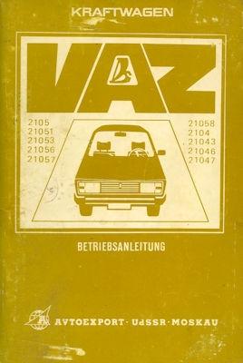 Lada Nova (VAZ 2105 / 2104) Bedienungsanleitung 1980er Jahre