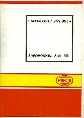 Saporoshez SAS-965 A / SAS 968 Minol Wagenpflegeplan 1972