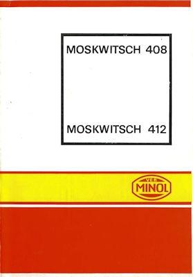 Moskwitsch 408 / 412 Minol Wagenpflegeplan 1972