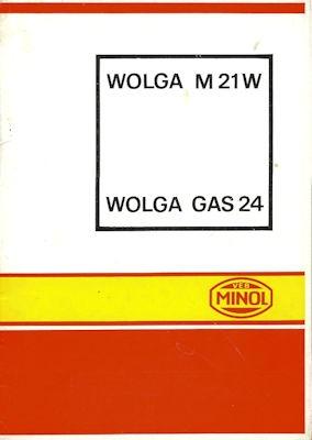 Wolga M 21 W / GAZ-24 Minol Wagenpflegeplan 1972