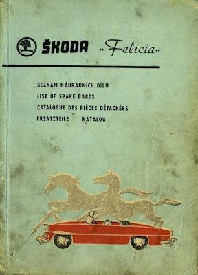Skoda Felicia Ersatzteilliste 1961