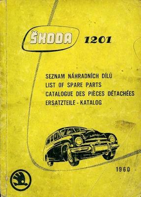 Skoda 1201 Ersatzteilliste 1960