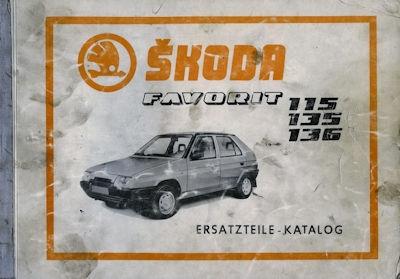 Skoda 115 135 136 Favorit Ersatzteilliste 1988