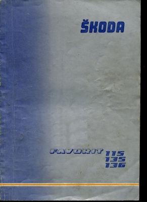 Skoda 115 135 136 Favorit Reparaturanleitung 1989