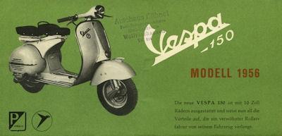 Vespa 150 ccm Roller Prospekt 1956