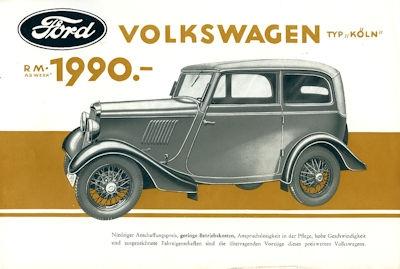 Ford Köln Prospekt 3.1934