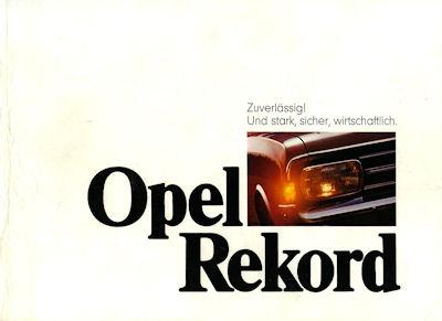 Opel Rekord C Prospekt 8.1969