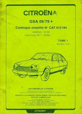 Citroen GSA Ersatzteilliste 9.1979