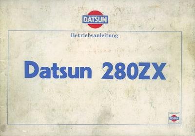 Datsun 280 ZX Bedienungsanleitung 1981