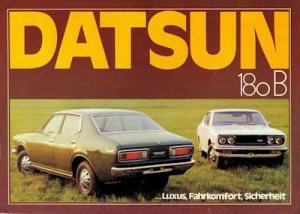 Datsun 180 B Prospekt 1970er Jahre