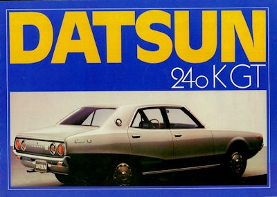Datsun 240K GT Prospekt 1970er Jahre