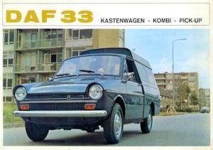 Daf 33 Kastenwagen Kombi Pick-up Prospekt 12.1967