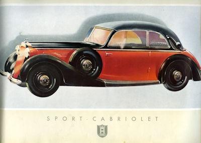 Horch V 8 Zylinder Prospekt 1939 2