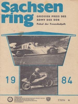 Programm Int. Sachsenringrennen 6.7.1984