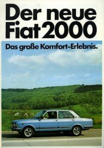 Fiat 132 - 2000 Prospekt 5.1977