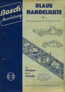 Bosch Blaue Handelsliste 1953