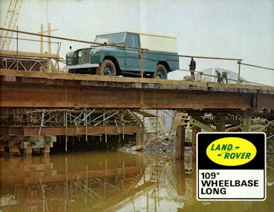 Land-Rover 109 Wheelbase long Prospekt 1960er Jahre
