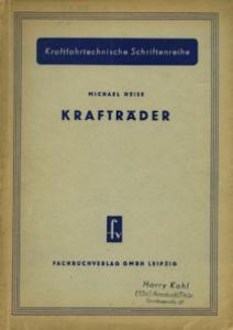 Michael Heise Kraftfahrttechn. Schriftenreihe: Krafträder 10.1953