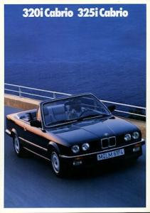 BMW 320i 325i Cabrio Prospekt 1989