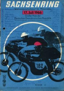 Programm Int. Sachsenringrennen 17.7.1966