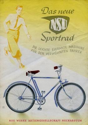 NSU Sport Fahrrad Prospekt 6.1939