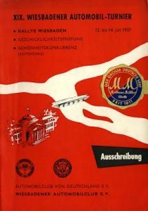 Ausschreibung Wiesbadener Automobilturnier 7.1957