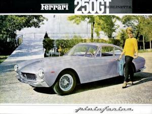Ferrari 250 GT Berlinetta Pininfarina Prospekt ca. 1959 Reprint