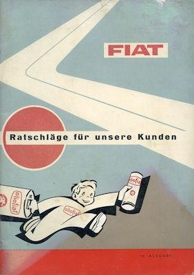 Fiat Ratschläge für den Kunden 8.1963