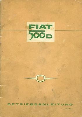 Fiat 500 D Bedienungsanleitung 1962
