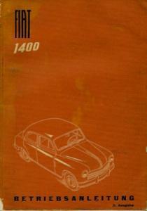 Fiat 1400 Bedienungsanleitung 10.1951