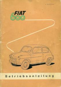 Fiat 600 Bedienungsanleitung 1958
