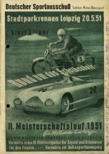 Programm Leipziger Stadtparkrennen 20.5.1951