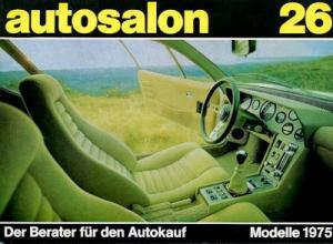 Autosalon in Buchform Nr. 26 1975