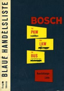 Bosch Blaue Handelsliste 1964/65