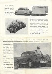 Glas Goggomobil Prospekt 1950er Jahre