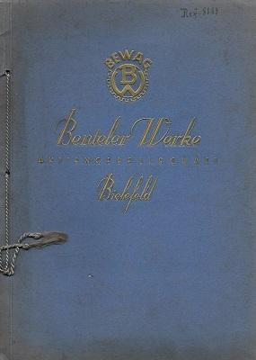 Benteler Werke Bielefeld Fahrradteile Katalog 1933
