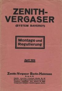 Zenith System Baverey Vergaser 4.1914
