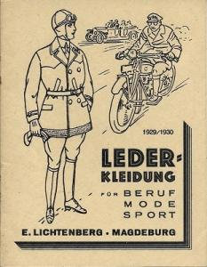 Ernst Lichtenberg Lederbekleidung Katalog 1929/1930