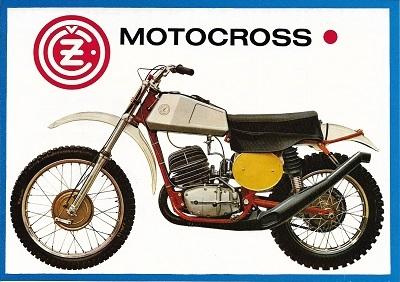 CZ 125 250 400 Motocross Prospekt 1970er Jahre