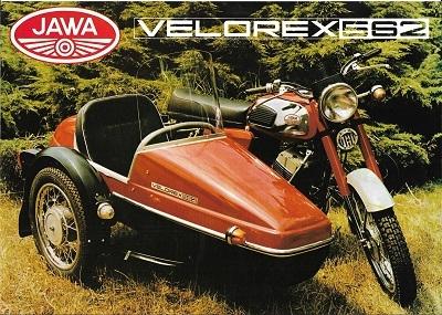 Jawa 350 ccm + Velorex 562 Prospekt 1970er Jahre