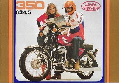 Jawa 350 ccm Prospekt 1970er Jahre
