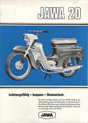 Jawa 20 Moped Prospekt ca. 1971