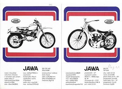 Jawa 250 Typ 652 / 500 DT Typ 894 Prospekt 1970er Jahre
