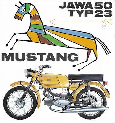 Jawa 50 Typ 23 Mustang Prospekt 1970er Jahre