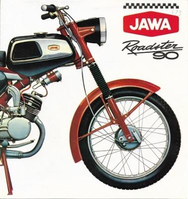 Jawa Roadster 90 Prospekt 1970er Jahre-russ